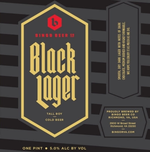 Bingo Beer Black Lager