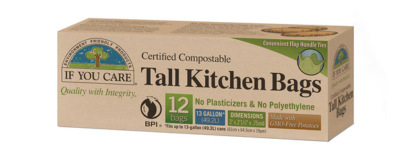 If You Care Certified Compostable Tall Kitchen Bags (12 count)