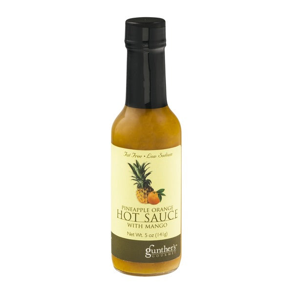 Gunther's Pineapple Orange Hot Sauce with Mango