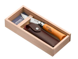 Opinel Carbon No. 8 with Wood Box and Sheath
