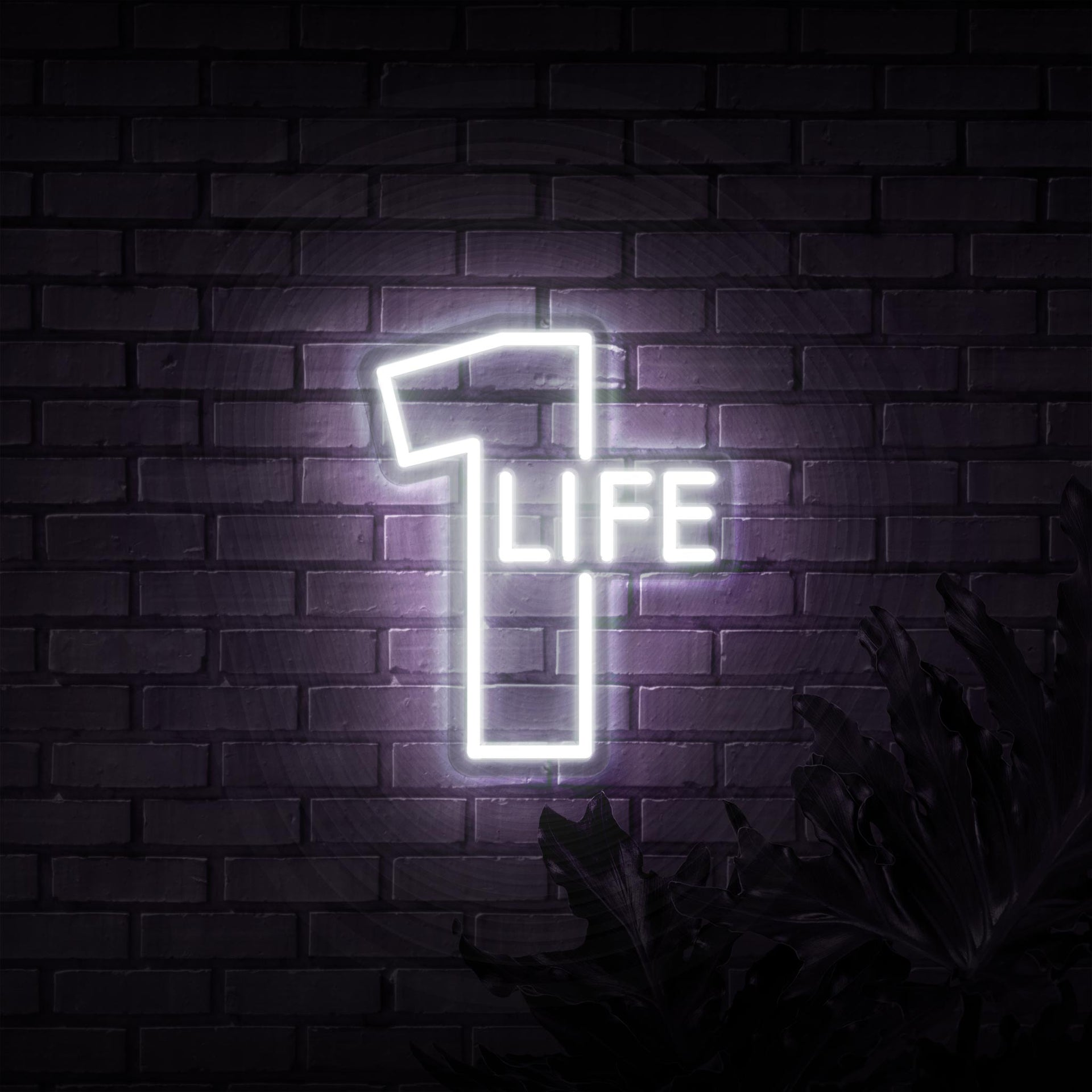 1 Life Neon Sign - Sketch & Etch Neon