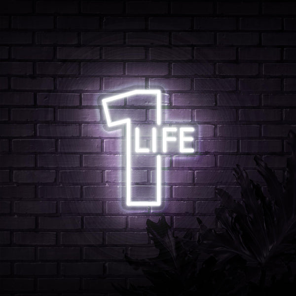 1 Life Neon Sign