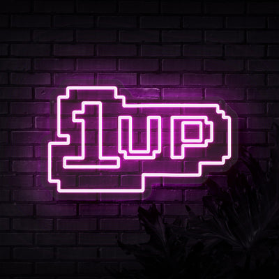 1 Up Neon Sign - Sketch & Etch Neon