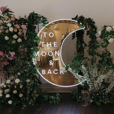 To the Moon & Back Neon Sign