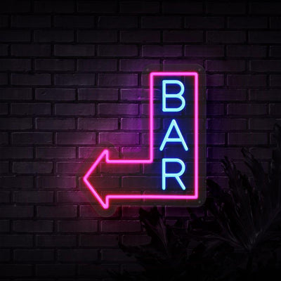 Bar This Way Neon Sign