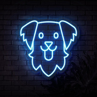 Golden Retriever Neon Sign