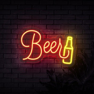 Old School Beer Neon Sign