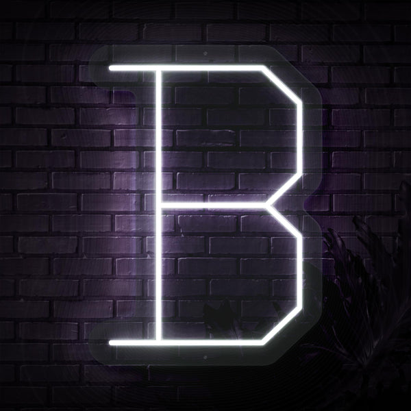 Personalized Initial Letter B Neon Sign