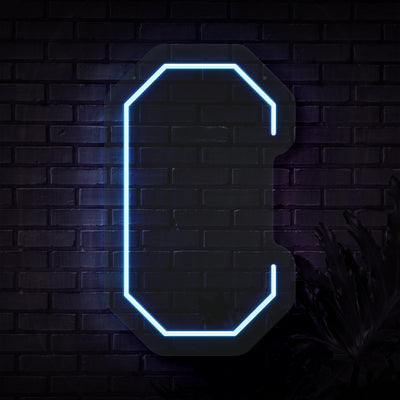 Personalized Initial Letter C Neon Sign