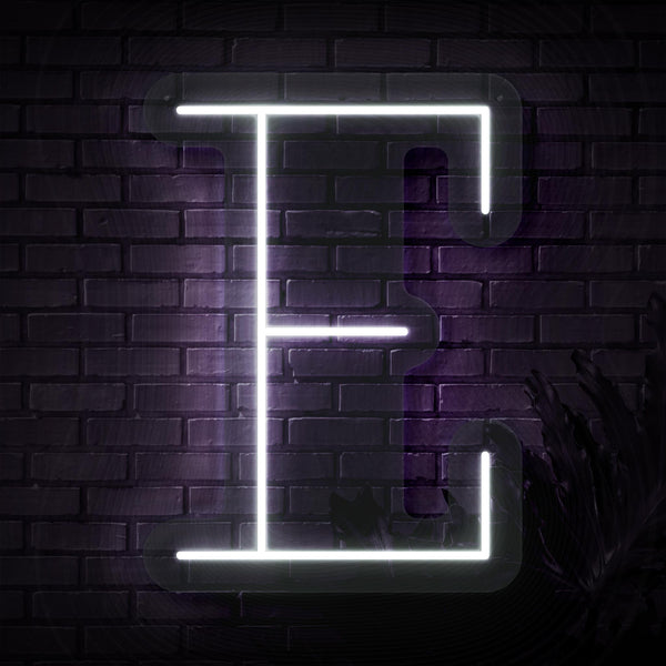Personalized Initial Letter E Neon Sign