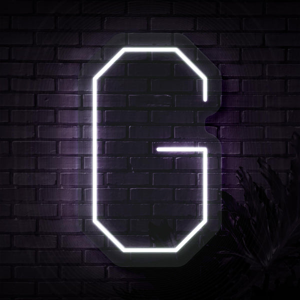 Personalized Initial Letter G Neon Sign
