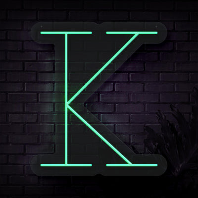 Personalized Initial Letter K Neon Sign