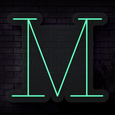 Personalized Initial Letter M Neon Sign