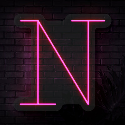 Personalized Initial Letter N Neon Sign