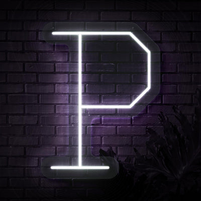 Personalized Initial Letter P Neon Sign