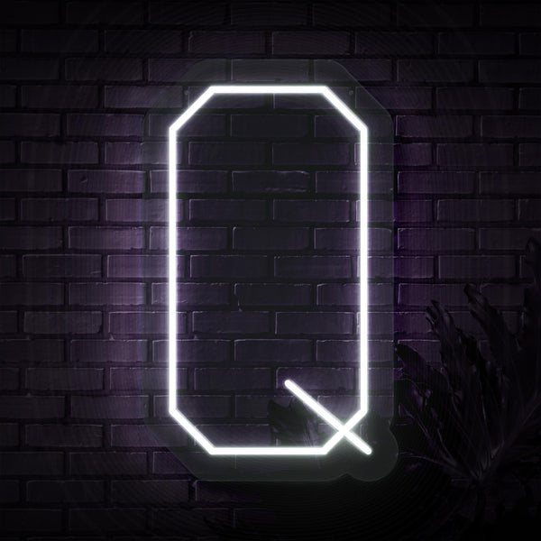 Personalized Initial Letter Q Neon Sign