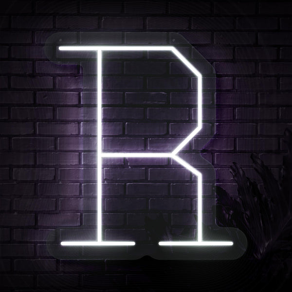 Personalized Initial Letter R Neon Sign