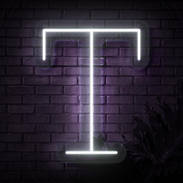 Personalized Initial Letter T Neon Sign