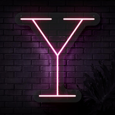 Personalized Initial Letter Y Neon Sign
