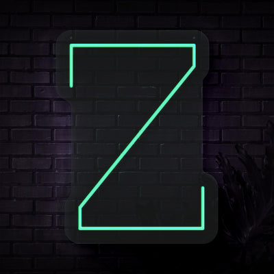 Personalized Initial Letter Z Neon Sign