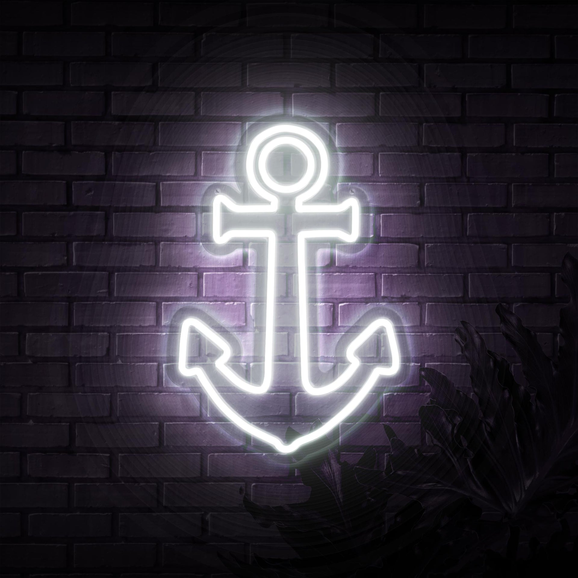 Anchor Neon Sign - Sketch & Etch Neon