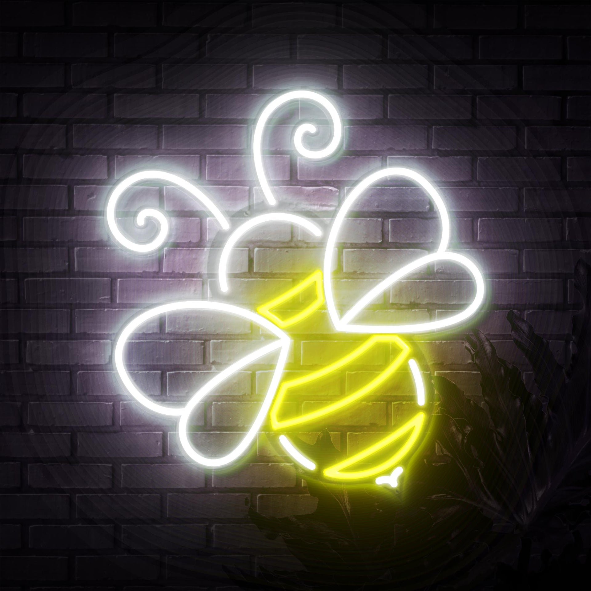 Bee Neon Sign - Sketch & Etch Neon