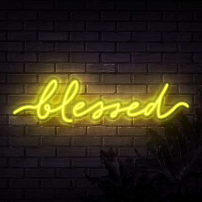Blessed Neon Sign - Sketch & Etch Neon
