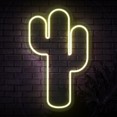 Cactus Neon Sign - Sketch & Etch Neon