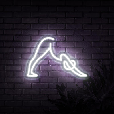 Downward Dog Neon Sign - Sketch & Etch Neon