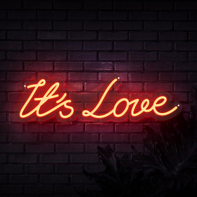 It's Love Neon Sign - Sketch & Etch Neon