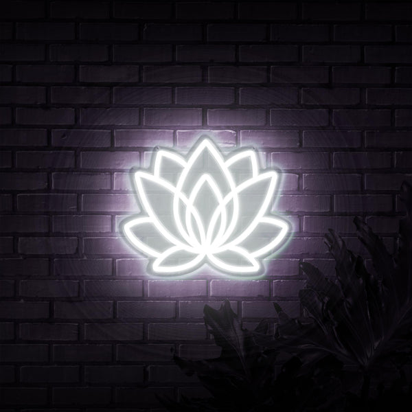 Lotus Neon Sign - Sketch & Etch Neon