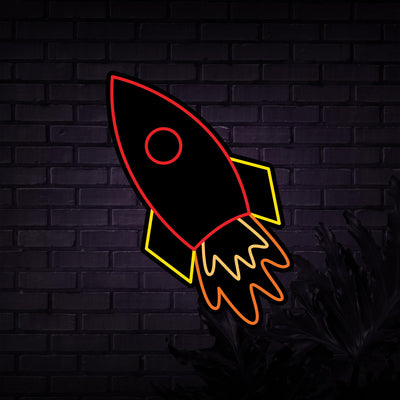 Rocket Neon Sign - Sketch & Etch Neon