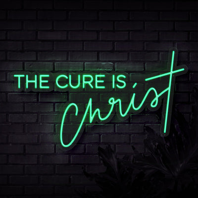 The Cure Is Christ Neon Sign - Sketch & Etch Neon