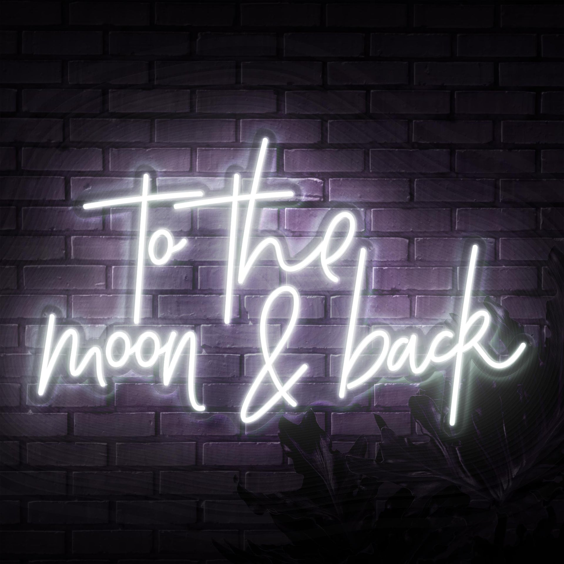 To The Moon & Back Script Neon Sign - Sketch & Etch Neon
