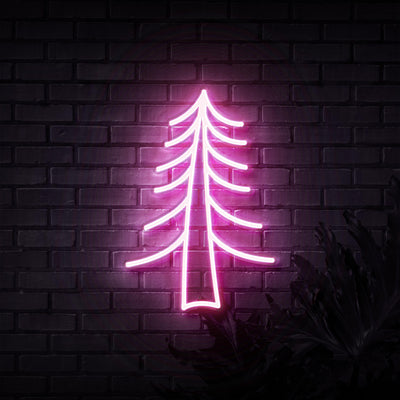 Tree Neon Sign - Sketch & Etch Neon