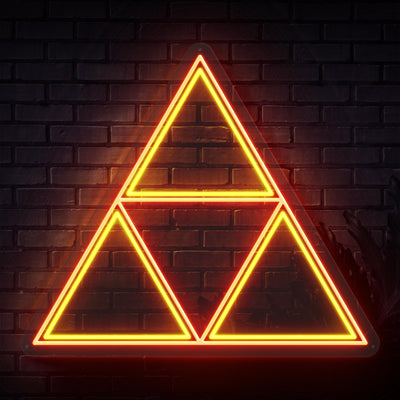 Triforce Neon Sign - Sketch & Etch Neon