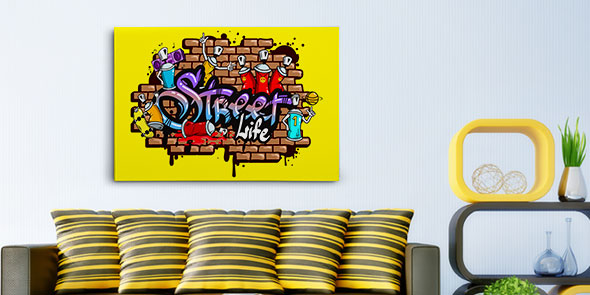 Graffiti Canvas Frames in Every Size & Design