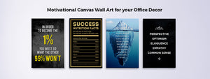 Decorate your walls with Motivational Wall Art Canvas Prints from Makemyprints!