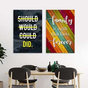 Motivational Canvas Wall Art for your Home or Office