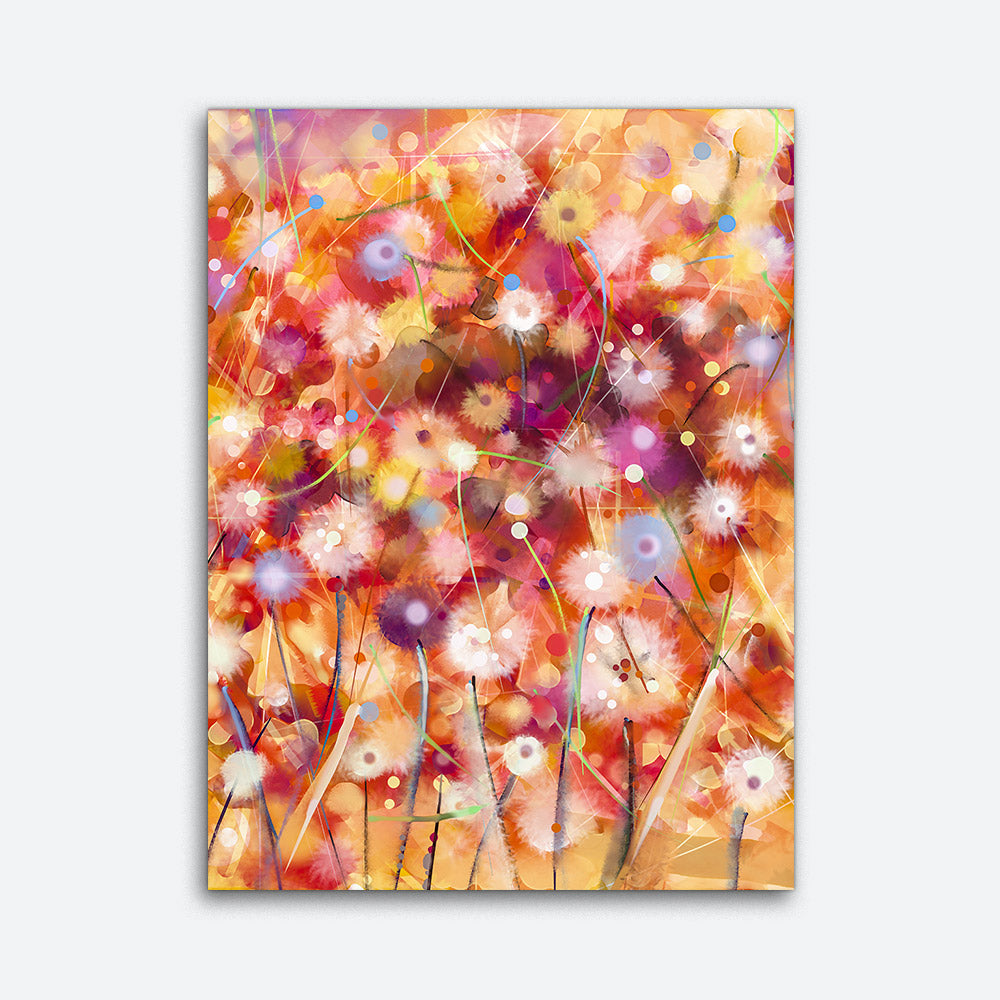 Abstract Colorful Floral Canvas Wall Art