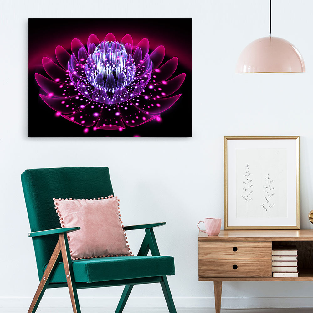 Abstract Exotic Flower Canvas Wall Art