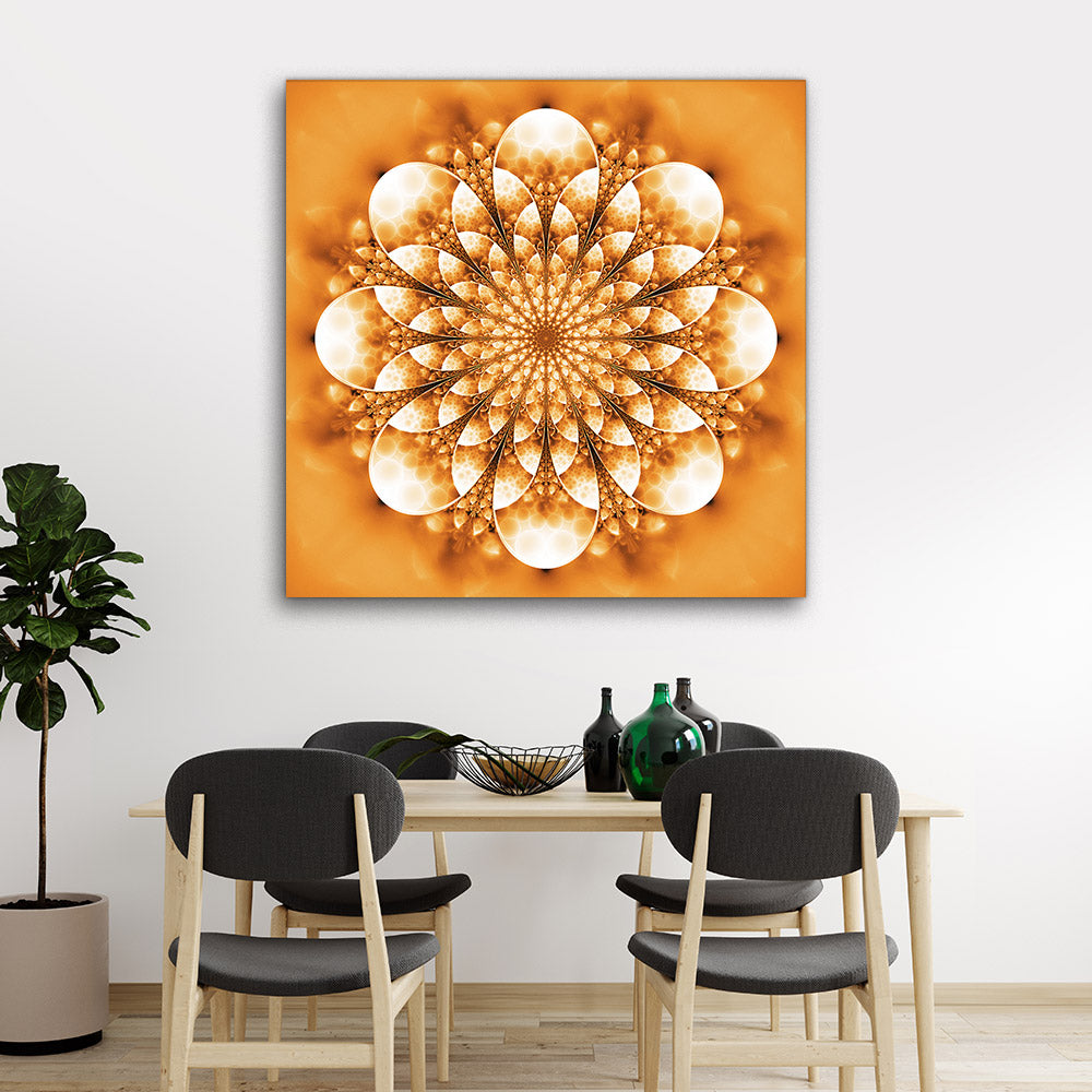 Abstract Exotic Flower Canvas Wall Art v6