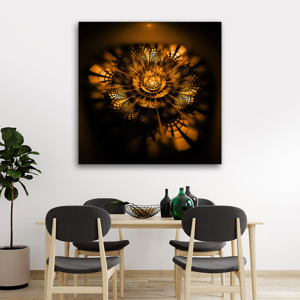 Abstract Exotic Flower Canvas Wall Art v4