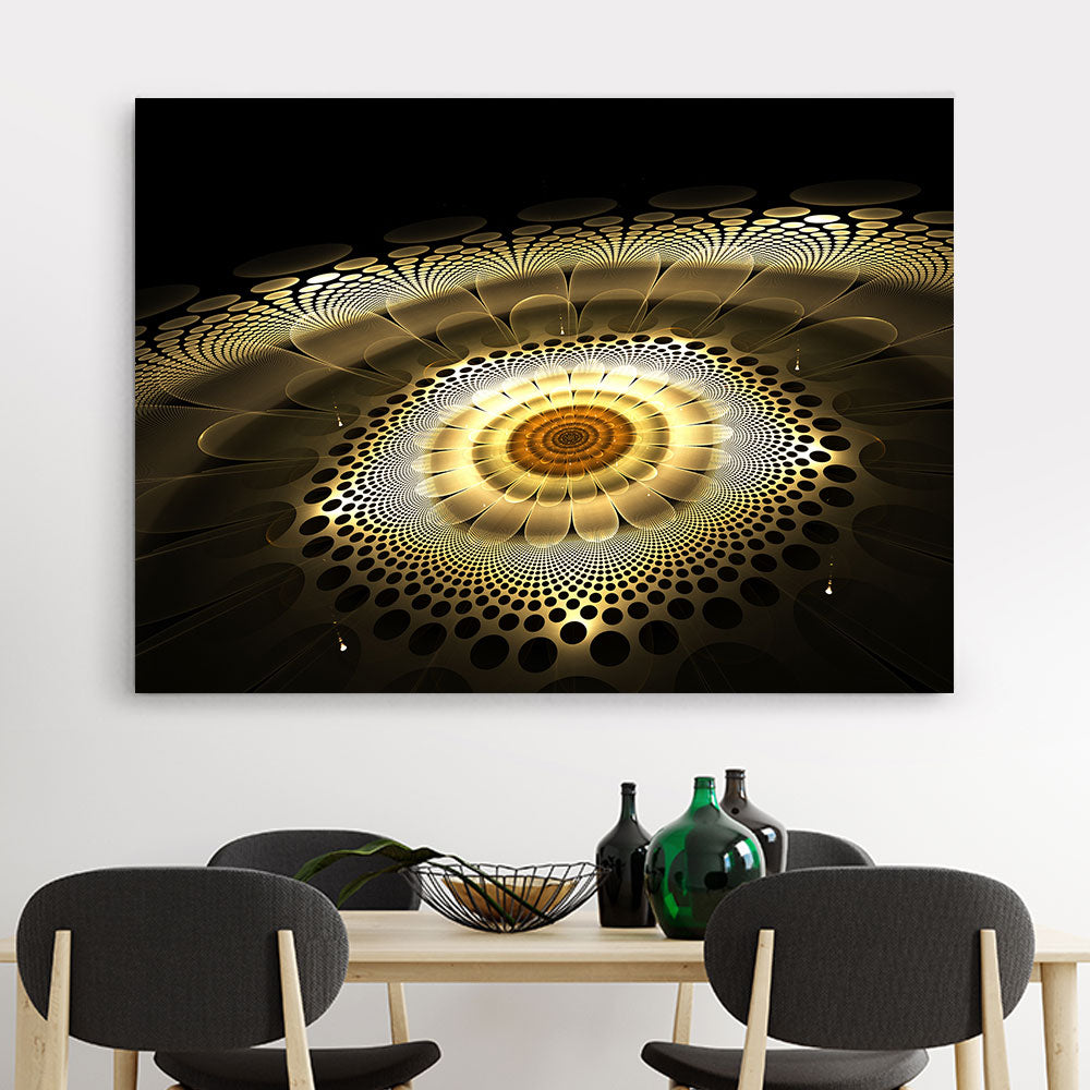 Abstract Exotic Flower Canvas Wall Art v3