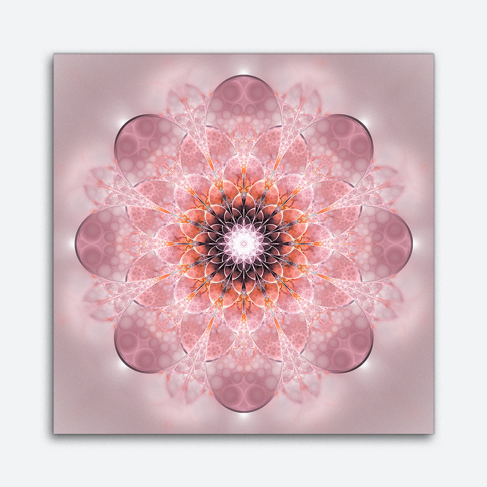Abstract Exotic Flower Canvas Wall Art v5