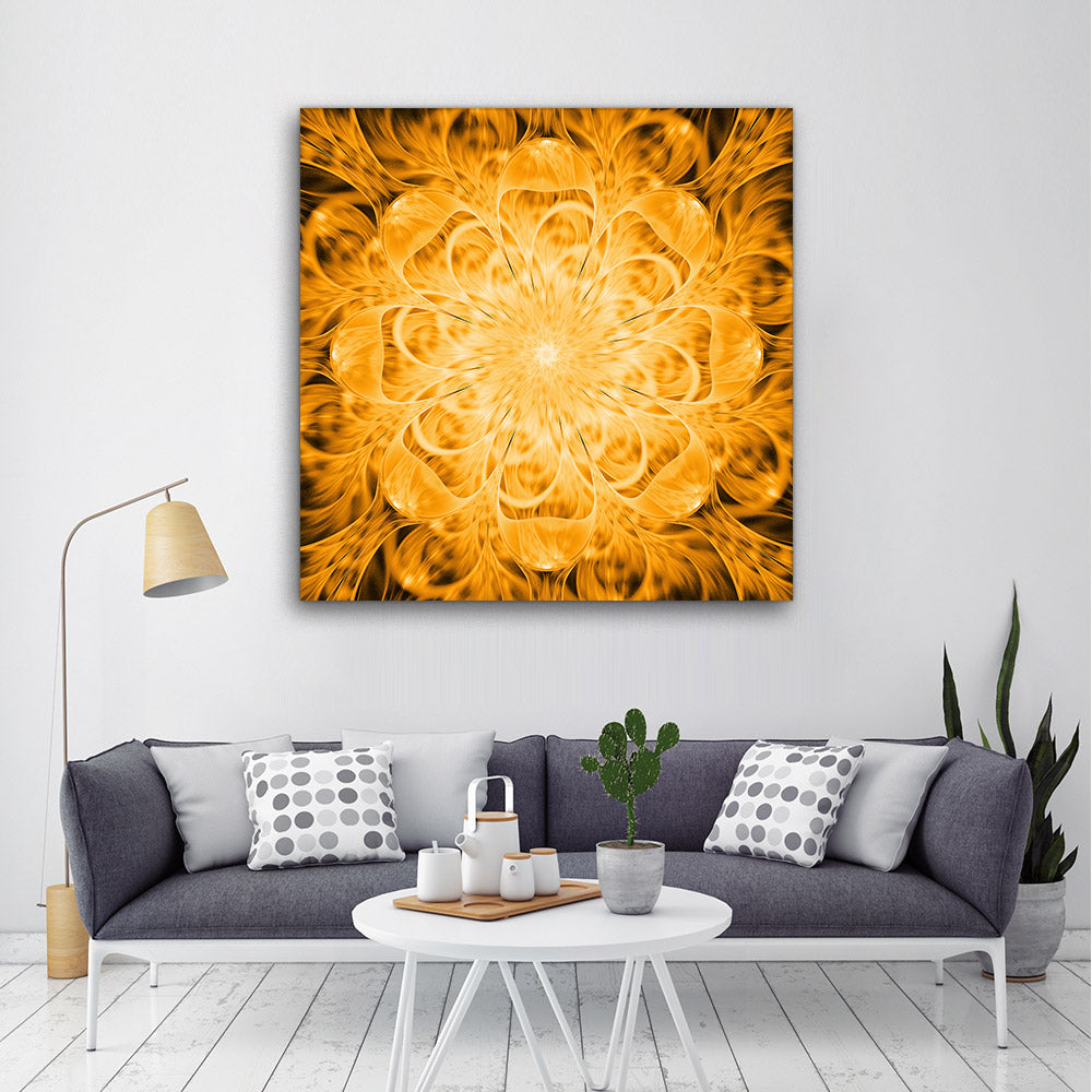 Abstract Exotic Golden Flower
