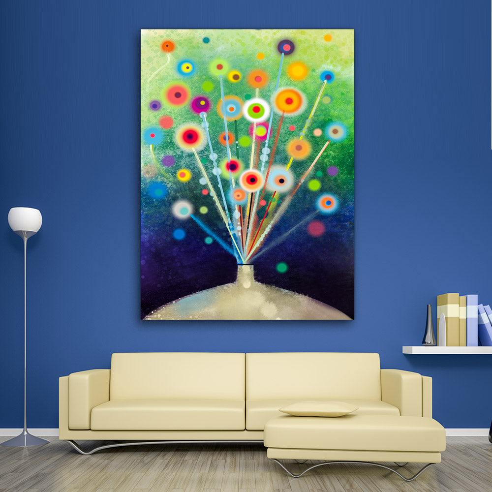 Abstract Floral Watercolor Painting Canvas Wall Art