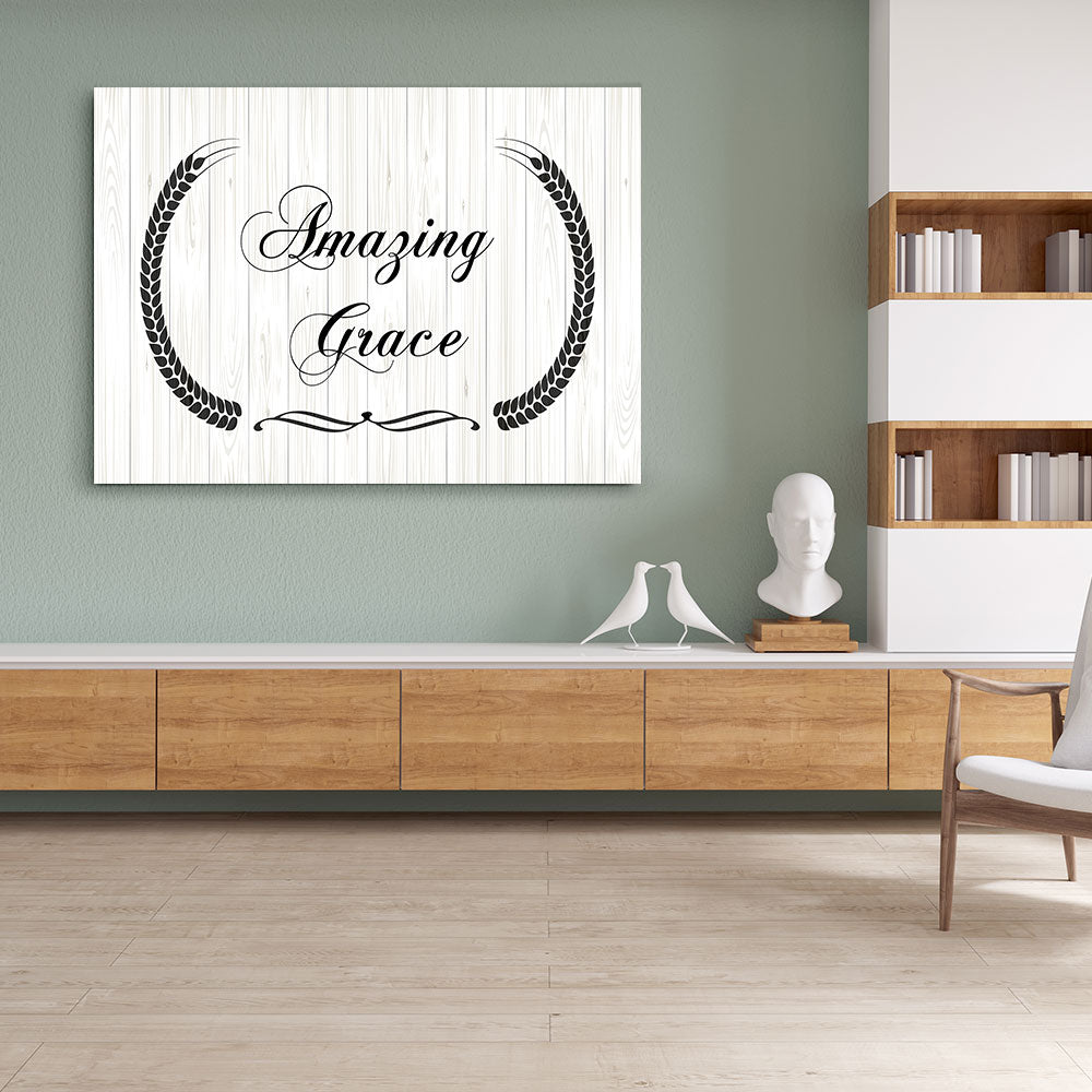 Amazing Grace Canvas Wall Art for your Home or Office. Motivational, inspirational and modern canvas wall art for your Home or Office.