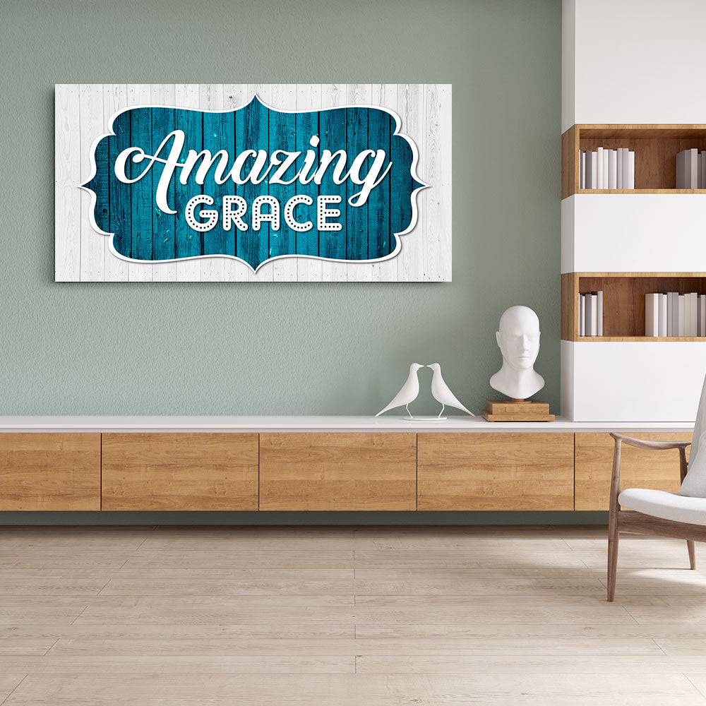 Amazing Grace Canvas Wall Art V2