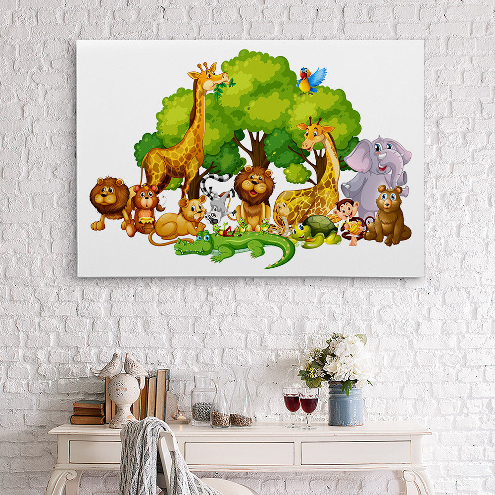 Animals Park Canvas Wall Art